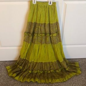 Long skirt with scrunched highlights